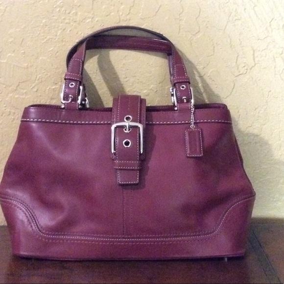Coach Handbags - Vintage Coach handbag  burgundy Satchel